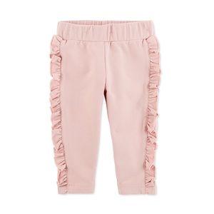 NWT Carter's Pink Ruffled Pants Joggers Size 9mo